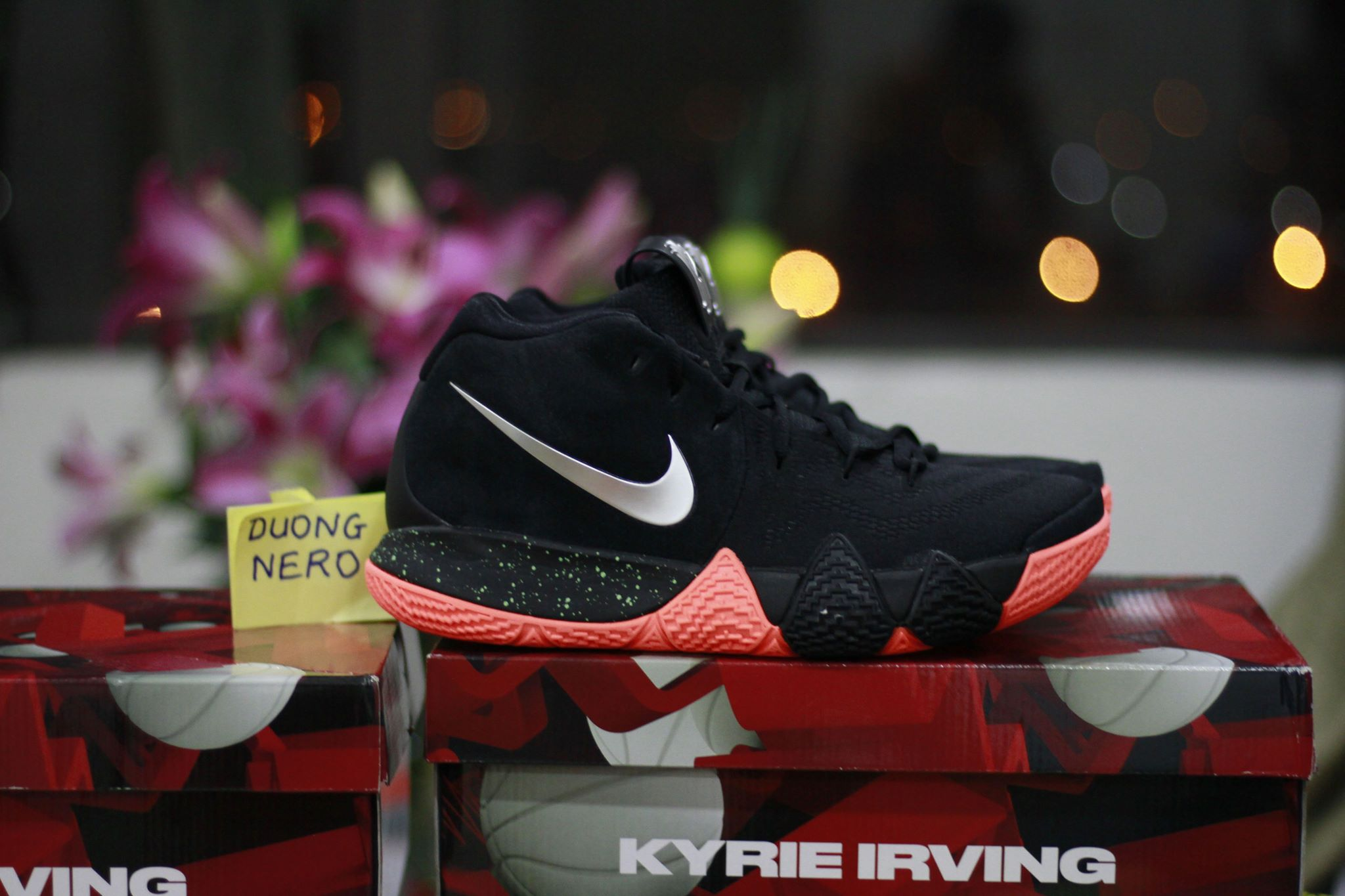 nike kyrie 4 black metallic