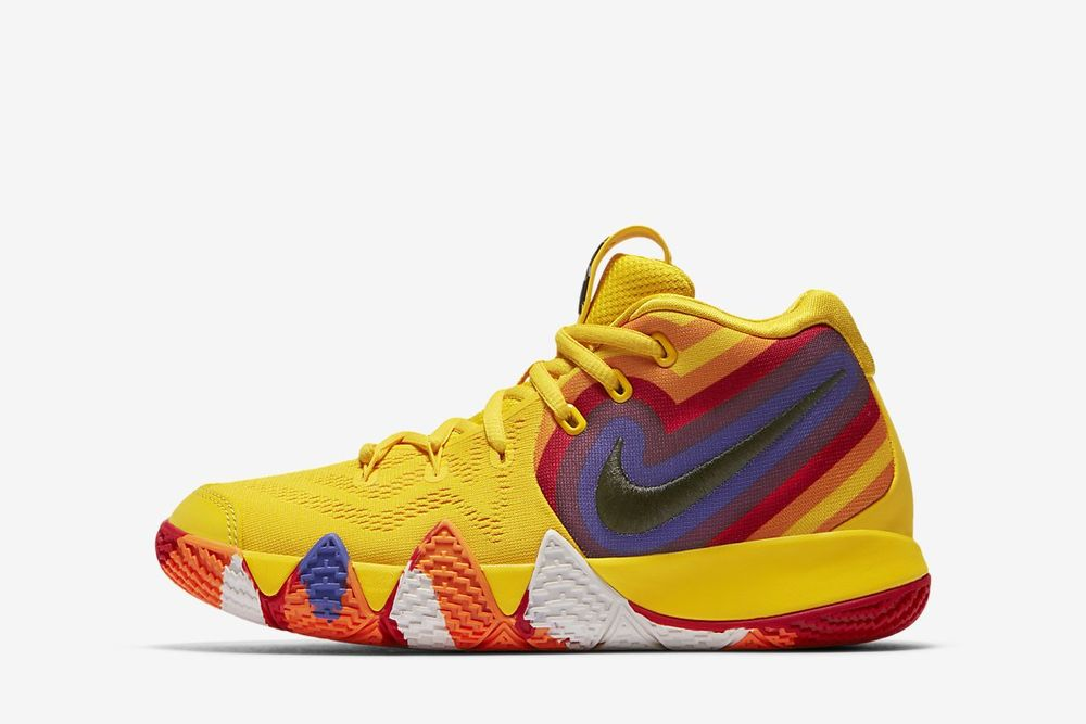 Nike Kyrie 4 70s YELLOW RED